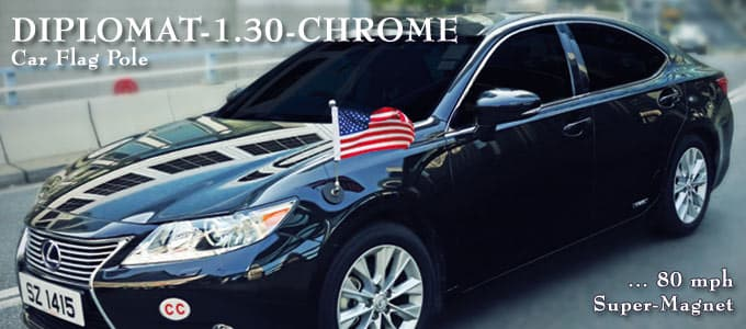 Premium Car Flags Diplomat Flags